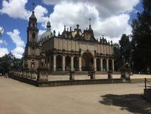 对三位一体troyeshchina的结构大教堂神圣洁基辅安排服务 免版税库存图片