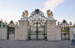 对上部眺望楼的门户 维也纳 奥地利 免版税库存照片