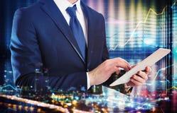 对与技术的事务的分析 免版税图库摄影