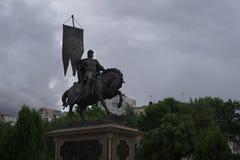 对世界杯将举行翼果的创建者,城市的纪念碑 图库摄影