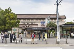 对东京国立博物馆的入口 免版税库存照片