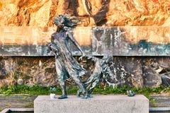 对丧生在火的在MS斯堪的纳维亚星上在奥斯陆,挪威的159个人的纪念品 图库摄影