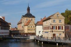 对中世纪城镇厅的看法 免版税库存图片