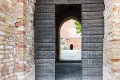 对中世纪堡垒的词条 库存照片