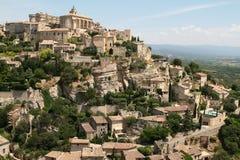 对中世纪镇的看法 库存照片