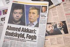 对丹麦PM的DENMARK_big道歉 库存照片