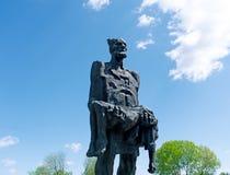 对二战的受害者的纪念碑 免版税库存照片