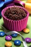 Brigadeiro巴西甜点 免版税库存图片