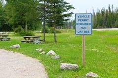 对于天用途标志是必需的车许可证 库存照片