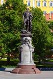 对亚历山大二世国王的纪念碑在莫斯科,俄罗斯 免版税库存照片