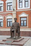 对亚历山大冯克勒男爵的纪念碑 马里埃尔共和国,约什卡尔奥拉,俄罗斯共和国 05/21/2016 库存图片