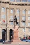 对亚历山大・涅夫斯基的纪念碑 伏尔加格勒 图库摄影
