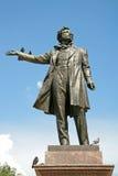 对亚历山大・谢尔盖耶维奇・普希金, ST的纪念碑 彼得斯堡俄国 免版税库存图片