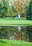 对亚历山大Lanskoi的纪念碑 pushkin StPetersburg 库存图片