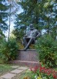 对亚历山大Nikolayevich奥斯特洛夫斯基的纪念碑 库存照片