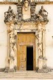 对亭子的入口大学的 科英布拉 葡萄牙 免版税图库摄影