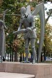 对人的恶习的纪念碑。莫斯科。战争的片段。 免版税库存图片
