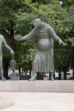 对人的恶习的纪念碑。莫斯科。虐待狂的片段。 免版税库存图片