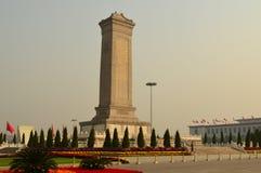 对人英雄的纪念碑,天安门广场 免版税库存照片