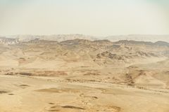 对以色列充分Neqev沙漠的夏天旅行沙子 库存图片