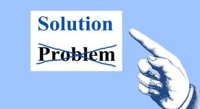 对企业成功的概念的手指点 库存图片