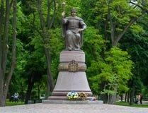 对伊万・马泽帕的纪念碑 图库摄影