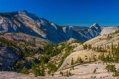 对优胜美地谷的一张视图从Olmsted点,优胜美地国民 图库摄影