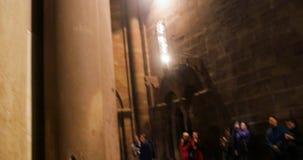 对传道者雕象的掀动在Cathedrale史特拉斯堡,阿尔萨斯Notre Dame, 股票录像