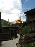 对佛教塔的入口 免版税库存图片