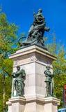 对佛朗哥普鲁士人的战争的受害者的纪念碑在南特,法国 免版税库存照片