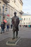 对作曲家谢尔盖普罗柯菲耶夫的纪念碑在莫斯科 免版税库存照片