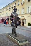 对作曲家谢尔盖普罗柯菲耶夫的纪念碑在莫斯科 库存照片
