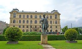 对作曲家Antonin德沃夏克的纪念碑(1841-1904) 捷克rep 库存图片