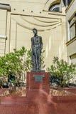 对俄国作家、散文作家和编剧Kamergersky车道的安东・帕夫洛维奇・契诃夫的纪念碑 免版税库存照片