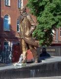 对俄国作家Andrei普拉托诺夫的纪念碑 免版税库存图片