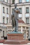对俄国歌剧歌手Feodor夏里亚宾的纪念碑在喀山 库存照片