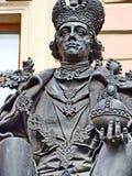 对俄国沙皇Pavel的纪念碑我Mihajlovsky锁的 由雕刻家VE Gorev,建筑师VP Nalivayko 打开2003年5月27日 免版税图库摄影