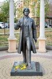 对俄国诗人谢尔盖・亚历山德罗维奇・叶赛宁的纪念碑 别尔哥罗德州 俄国 库存照片