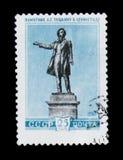 对俄国诗人A的纪念碑 普希金在列宁格勒,大约1959年 库存照片