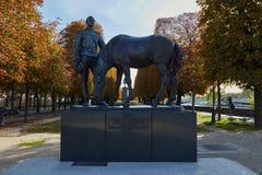 对俄国远征军团的英雄的一座纪念碑在第一次世界大战中 免版税图库摄影