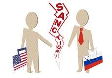 对俄罗斯的美国制裁 免版税库存照片
