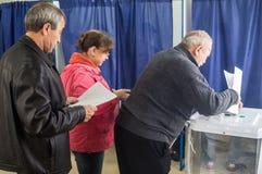 对俄罗斯联邦2016年9月18的杜马的日竞选在卡卢加州地区 免版税库存照片