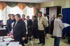 对俄罗斯联邦2016年9月18的杜马的日竞选在卡卢加州地区 图库摄影