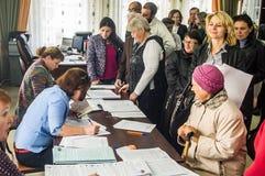 对俄罗斯联邦2016年9月18的杜马的日竞选在卡卢加州地区 免版税图库摄影