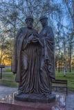对保佑的王子Pyotr和Fevronia Murom公主的纪念碑 图库摄影