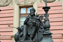 对保禄一世,圣彼德堡的纪念碑 免版税库存照片