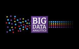 对信息的分析 数据采集形象化 抽象开掘 图库摄影