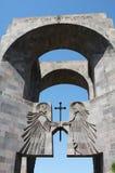 对修道院Echmiadzin,亚美尼亚的大门 图库摄影