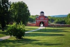 对修道院Krusedol的入口 免版税库存图片