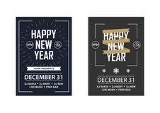 对俱乐部党的两个新年邀请 库存照片